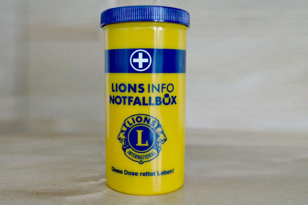 Die Lions Info Notfallbox