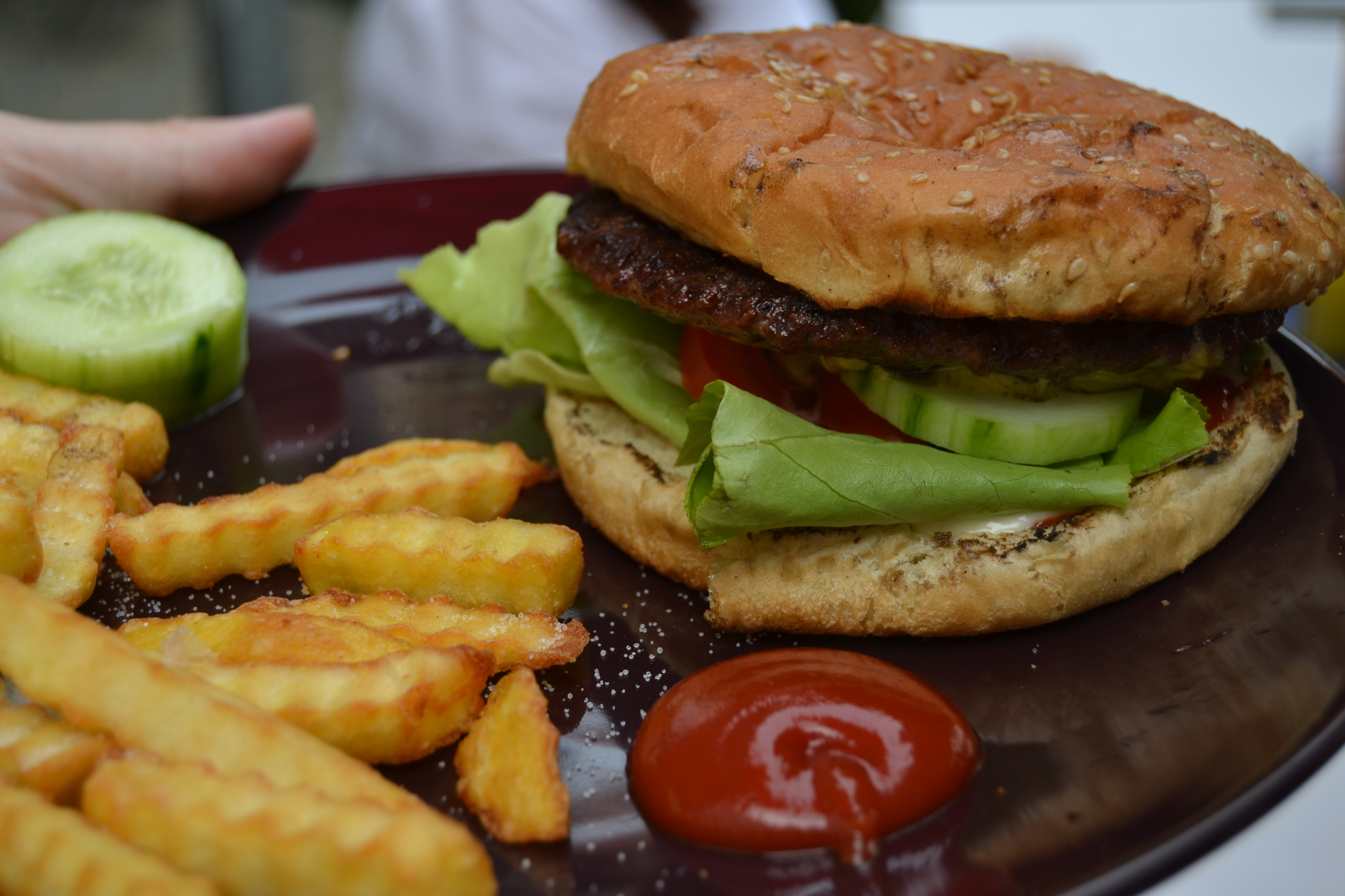 Burger Grillen Mit Dem Team